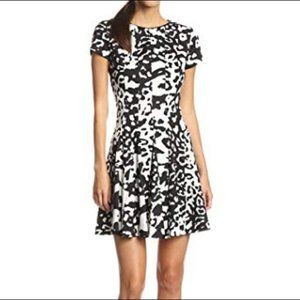 Eliza J animal print fit and flare dress 6